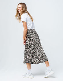 KNOW ONE CARES Ditsy Floral Midi Skirt_