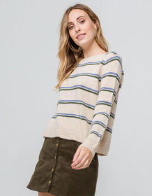 EMORY PARK Stripe Oatmeal Womens Sweater_