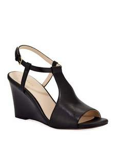Cole Haan Maddie Open-Toe Wedge Pumps