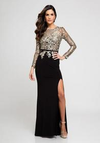 Terani Couture - Embroidered Long sleeves Evening