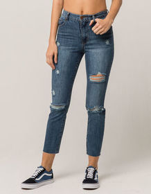 RSQ Ripped Womens Mom Jeans_