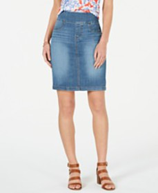 Style & Co Ella Pull-On Denim Skirt, Created for M