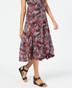 JM Collection Printed Midi Skirt, Created for Macy