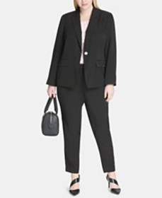 Calvin Klein Plus Size Polka-Dot Embossed Jacket,