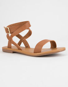 CITY CLASSIFIED Basic Ankle Wrap Womens Sandals_