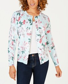 Karen Scott Floral-Print Cardigan, Created for Mac