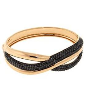 "Bellezza 5.90ctw Black Spinel Bronze 7"" Twisted Br"