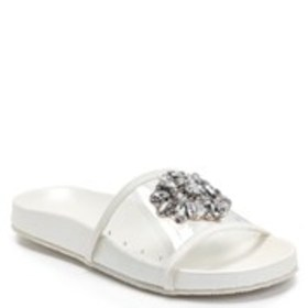 BADGLEY MISCHKA Girls Clear Slide with Jeweled Str