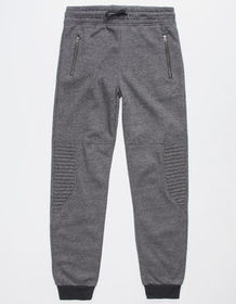 HOLLYWOOD Brighton Black Boys Moto Jogger Pants_
