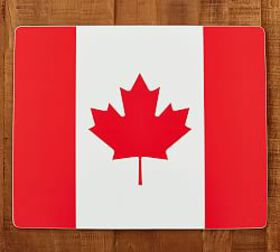 Pottery Barn Canadian Flag Cork Mat