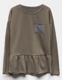 SKY AND SPARROW Girls Pocket Babydoll Top_