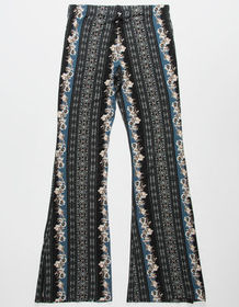 WHITE FAWN Tapestry Girls Flare Pants_