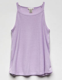 BOZZOLO High Neck Lilac Girls Tank_