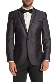 Kenneth Cole Reaction Silver Shimmer Two Button No
