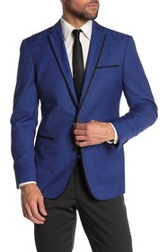 Kenneth Cole Reaction Blue Tonal Floral Two Button
