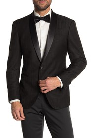 Kenneth Cole Reaction Black Tonal Houndstooth One