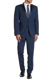 Kenneth Cole Reaction Blue Sharkskin Two Button No