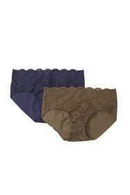 Commando Double Take Lace Panties - Pack of 2