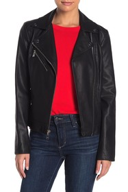 GUESS Side Lace-Up Faux Leather Jacket