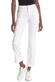 Tractr High Rise Straight Ankle Jeans