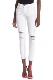 7 For All Mankind Gwenevere Destroyed Ankle Skinny