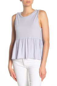 Free People Anytime Peplum Hem Tank