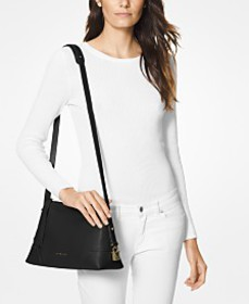 MICHAEL Michael Kors Crosby Pebble Leather Messeng