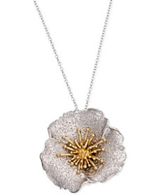 Giani Bernini Two-Tone Hibiscus Pendant Necklace,