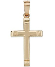 Small Cross Pendant in 14k Gold