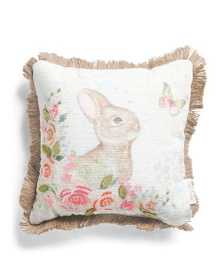 HANDCRAFTED IN INDIA Made In India 12x12 Bunny Pil