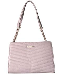 Rampage Chevron Quilted Shoulder Bag with Laced Ch