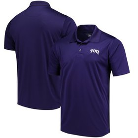 TCU Horned Frogs Champion Solid Interlock Polo - P