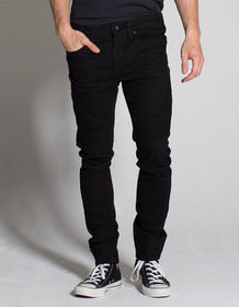 RSQ Seattle Moto Black Mens Skinny Tapered Jeans_