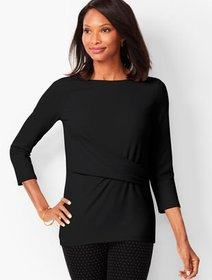 Talbots Side-Ruched Tee