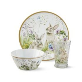 Floral Meadow Kids Melamine Set