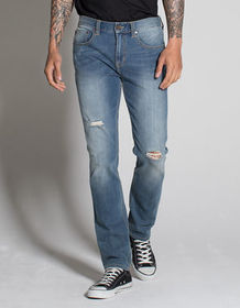 RSQ London Mens Skinny Stretch Ripped Jeans_