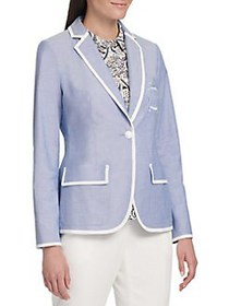 Tommy Hilfiger Classic Notch Lapel Cotton Blazer B