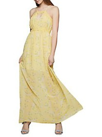 BCBGeneration Leafy Bloom Maxi Dress BANANA