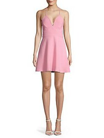 BCBGeneration Crisscross Back Flared Dress PINK