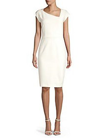 French Connection Lula Sheath Dress SUMMER WHITE