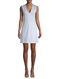 French Connection Lula Stretch A-Line Dress SALT W