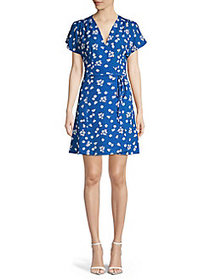 French Connection Verona Floral Wrap-Front Dress V