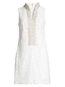Eliza J Petite Embroidered Shirt Dress IVORY