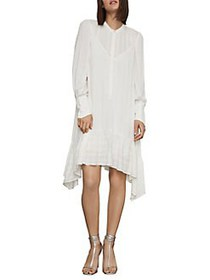 BCBGMAXAZRIA Asymmetrical Button-Up Midi Dress GAR