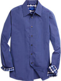 Egara Blue Plaid Sport Shirt