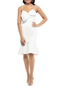 Xscape Bow Sheath Dress IVORY