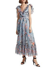 French Connection Sheer A-Line Maxi Dress SUMMER S