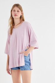 Out From Under Tenley Side-Slit Tunic Tee