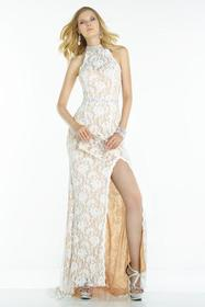 Alyce Paris - 46549 Sleeveless Lace Halter Long Dr