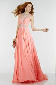 Alyce Paris - 6544 Long Dress In Pink Coral